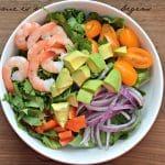 Tropical Cilantro-Lime Shrimp and Avocado Salad