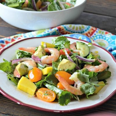 Tropical Cilantro-Lime Shrimp and Avocado Salad