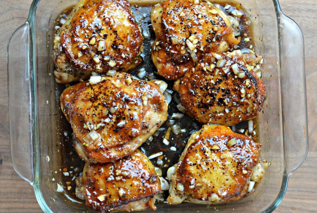 Honey Molasses Baked Chicken