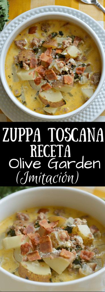 Zuppa Toscana del restaurante Olive Garden es una de mis sopas favoritas! Sigue leyendo para saber como tu la puedes hacer desde la comodidad de tu propia casa!