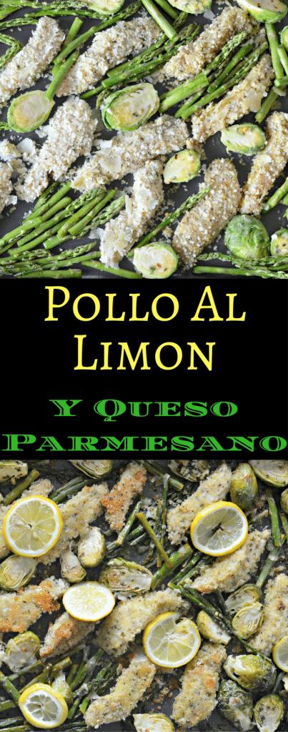 Esta receta para Pollo al Limon y Queso Parmesano usa solo un refractario y es deliciosa. Pruebala hoy!