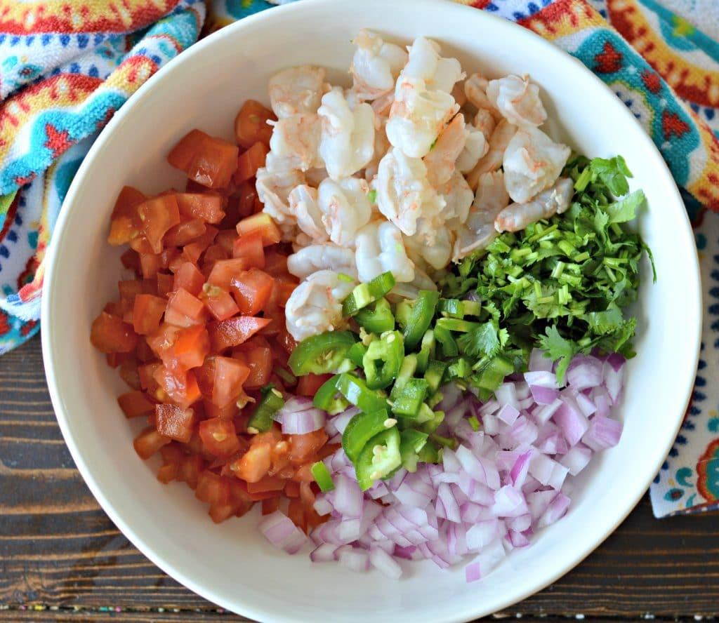 Shrimp Ceviche prep bowl