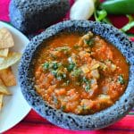 Salsa Recipe - Authentic Mexican Salsa Roja made with fresh ingredients is a perfect appetizer or snack to enjoy this summer.