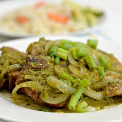 Salsa Verde Grilled Pork Chops Recipe