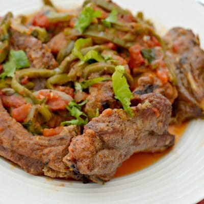 Pork Back Ribs with Spicy Nopales Salsa