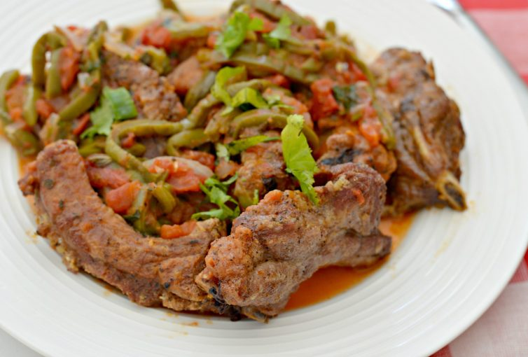 Pork Back Ribs with Spicy Nopales Salsa is a recipe that you can make for a crowd and is perfect for holiday gatherings.