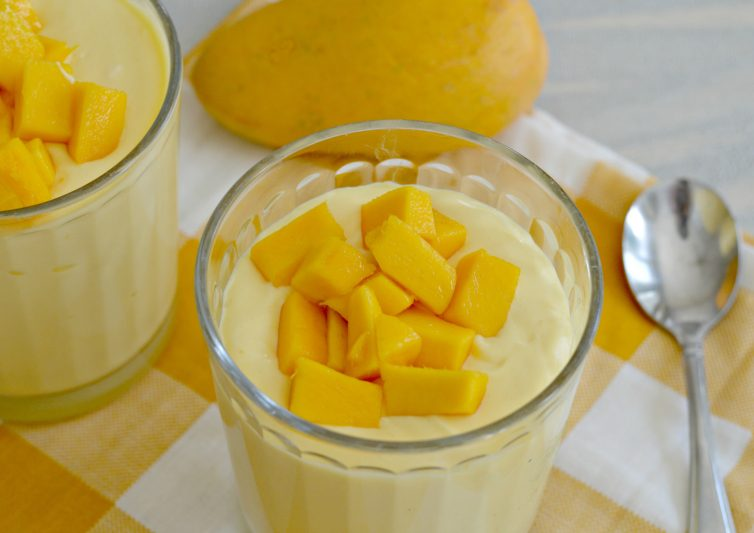 Creamy Mango Mousse is a perfect choice for an after school snack. Full of flavor, creamy, and the perfect amount of sweetness to keep your kids happy.