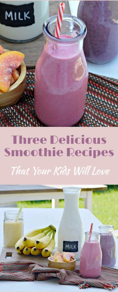 These three nutritious smoothie recipes are all made with delicious milk and taste great. They make for a perfect breakfast before school.