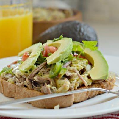 Avocado Toast with Machaca Eggs and Pico de Gallo