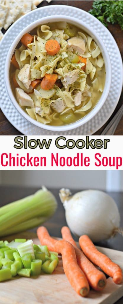 Slow Cooker Chicken Noodle Soup is the perfect recipe for the fall when cold season starts rolling in. #SignatureCare AD