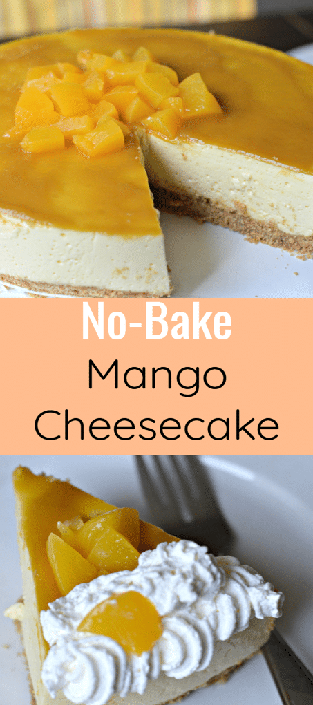 No-Bake Mango Cheesecake, made with fresh, delicious mangoes, is a perfect dessert to share with family and friends this holiday season.