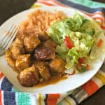 "This Mexican-Style Sweet and Spicy Pork combines spice from chipotle peppers, with the sweet from ""piloncillo"" to create an explosion of flavors in your mouth."