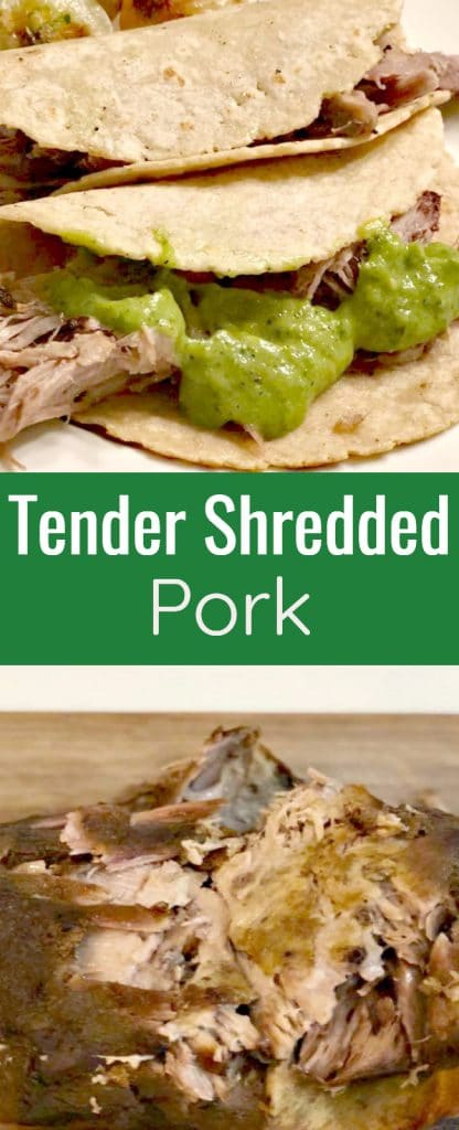 Tender Shredded Pork for Tacos and Burritos is a must-have during the holiday season because it is perfect to feed a crowd.