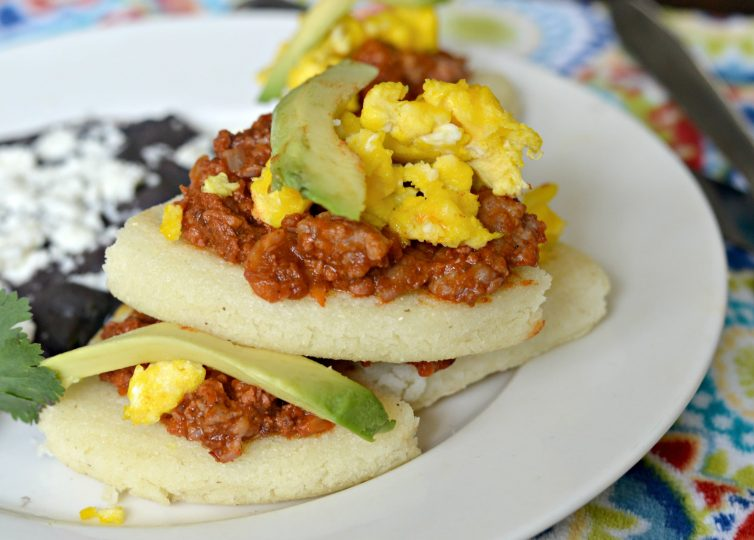 These delicious Arepas with Chorizo, Egg, and Avocado are a great twist on a classic Colombian recipe. Check it out below