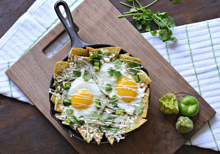 This Healthy and Easy Chilaquiles Recipe is a complete breakfast option which omits the step of frying tortilla chips from the original recipe and is delicious!