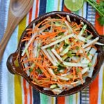 jicama and cucumber slaw