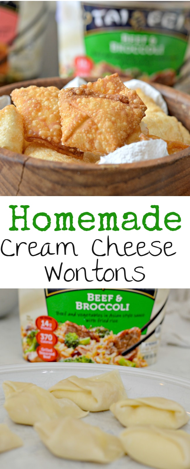 These Homemade Cream Cheese Wontons are easy to make and are perfect when you are in a hurry.