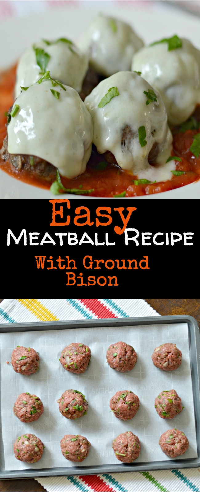 This easy meatball recipe is made with lean bison meat, and seasoned perfectly for a delicious, flavorful meal.
