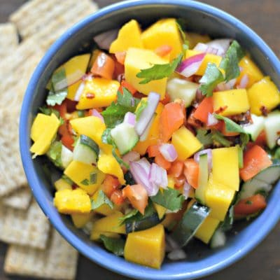 Fresh and Easy Mango and Cucumber Salsa