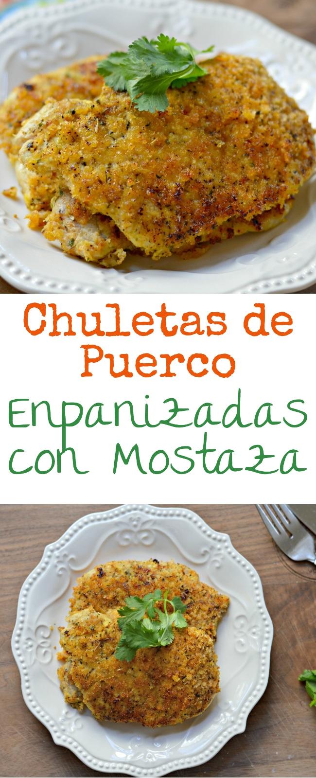 Estas Chuletas de Puerco Empanizadas con Mostaza son perfectas para tu cena hoy. ¡No te las pierdas!