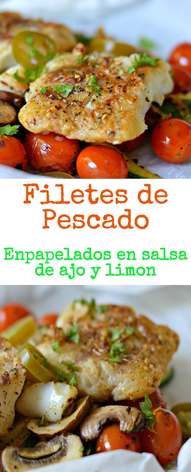 Esta receta para filetes de pescado empapelados en salsa de ajo y limon te dejara con ganas de comer mas.