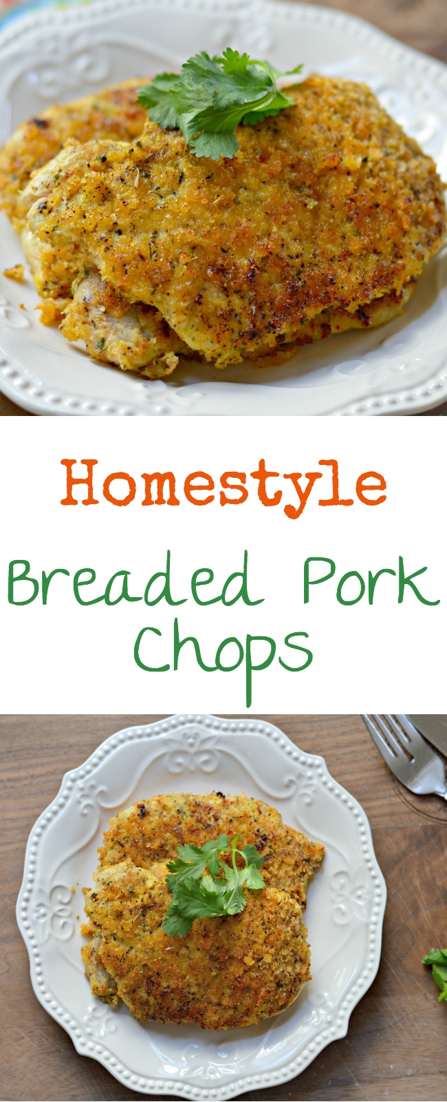 This homestyle breaded pork chops recipe has a delicious combination of herbs and spices and is a perfect choice for dinner.