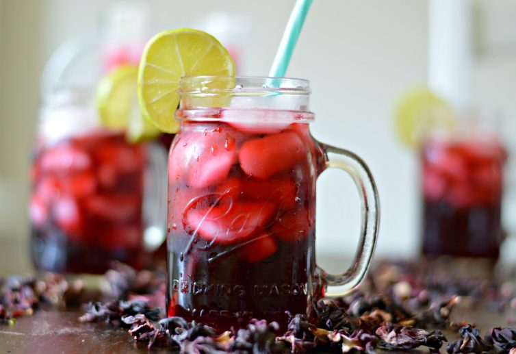 "Hibiscus tea, also known as ""Agua de Jamaica"", is delicious, refreshing and a very popular beverage throughout Mexico."