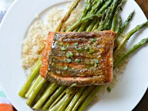 The Best Crispy Skin, Pan-Fried Alaska Salmon with Lemon Butter Garlic Sauce