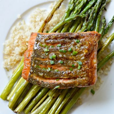 The Best Crispy Skin, Pan-Fried Alaska Salmon with Lemon Butter Garlic Sauce