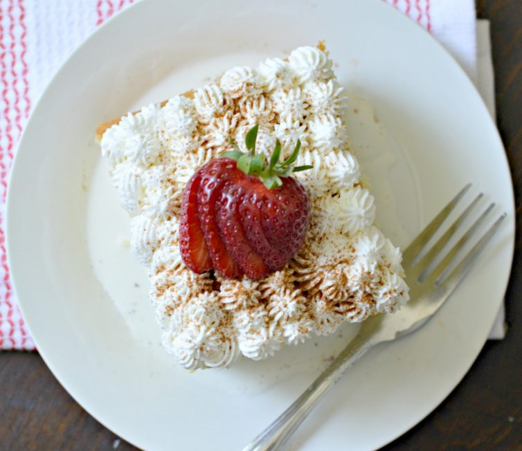 Tres leches cake from above