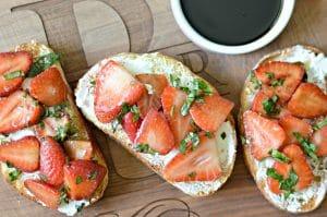 Strawberry-Basil Bruschetta Recipe with Honey-Balsamic Glaze