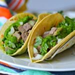 Beef tongue tacos ready to eat - tacos de lengua