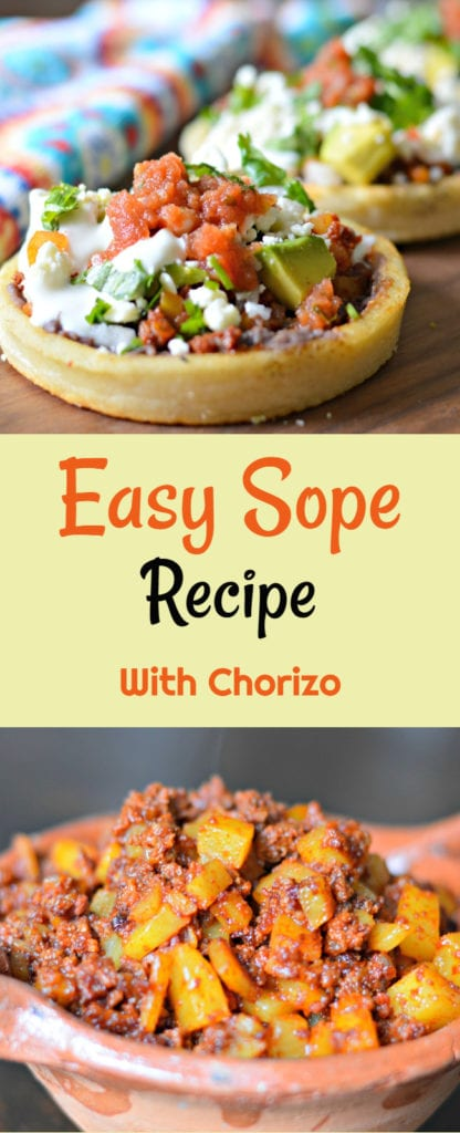 Inside: Keep reading to learn how to make a quick and easy Mexican sope recipe that is perfect for breakfast, lunch, or dinner.