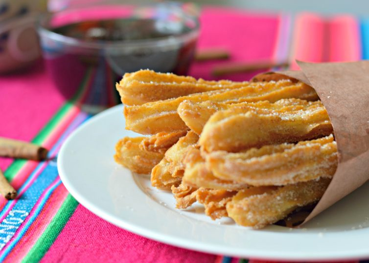 Churros cooked and ready to eat.