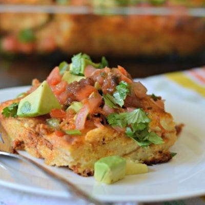 Delicious Queso Fundido Strata Recipe with Chorizo
