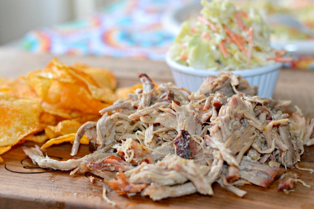 smoked pulled pork with other sides
