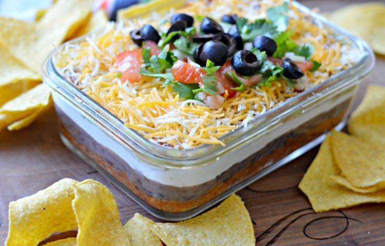 7 Layer dip from the side