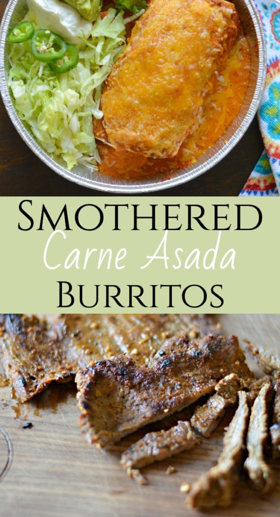 Keep reading if you want to find out how to make the most flavorful carne asada burritos that you have ever tried, smothered with cheese and guajillo salsa).