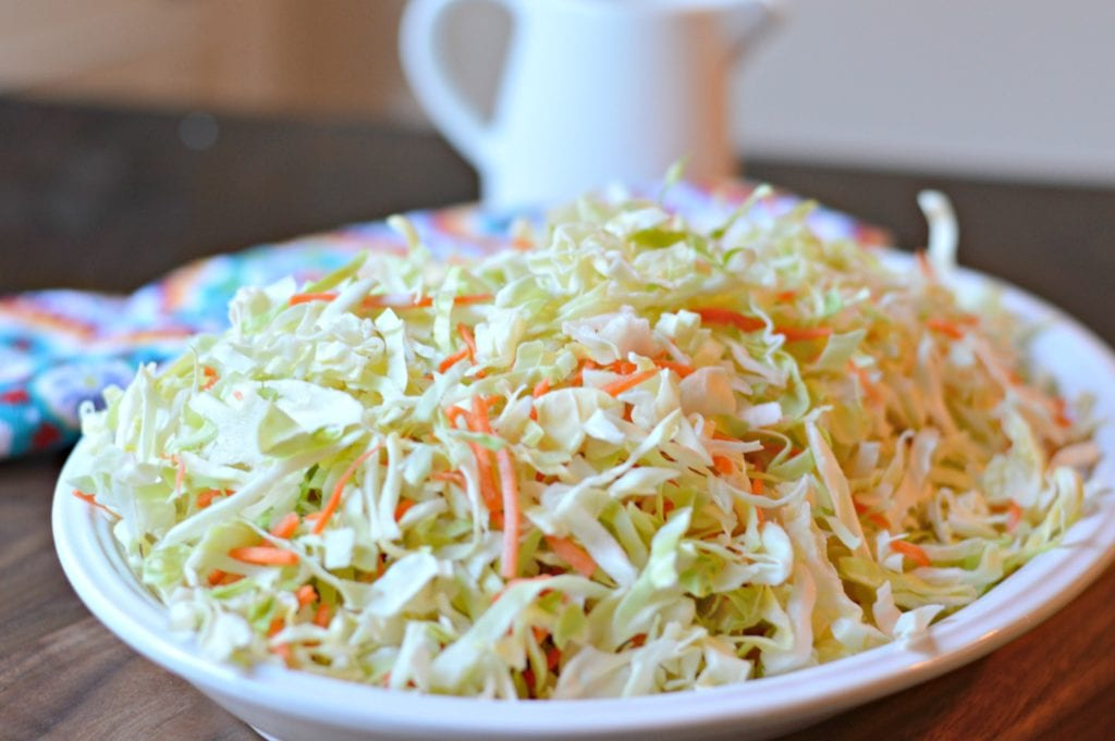 Coleslaw before adding dressing
