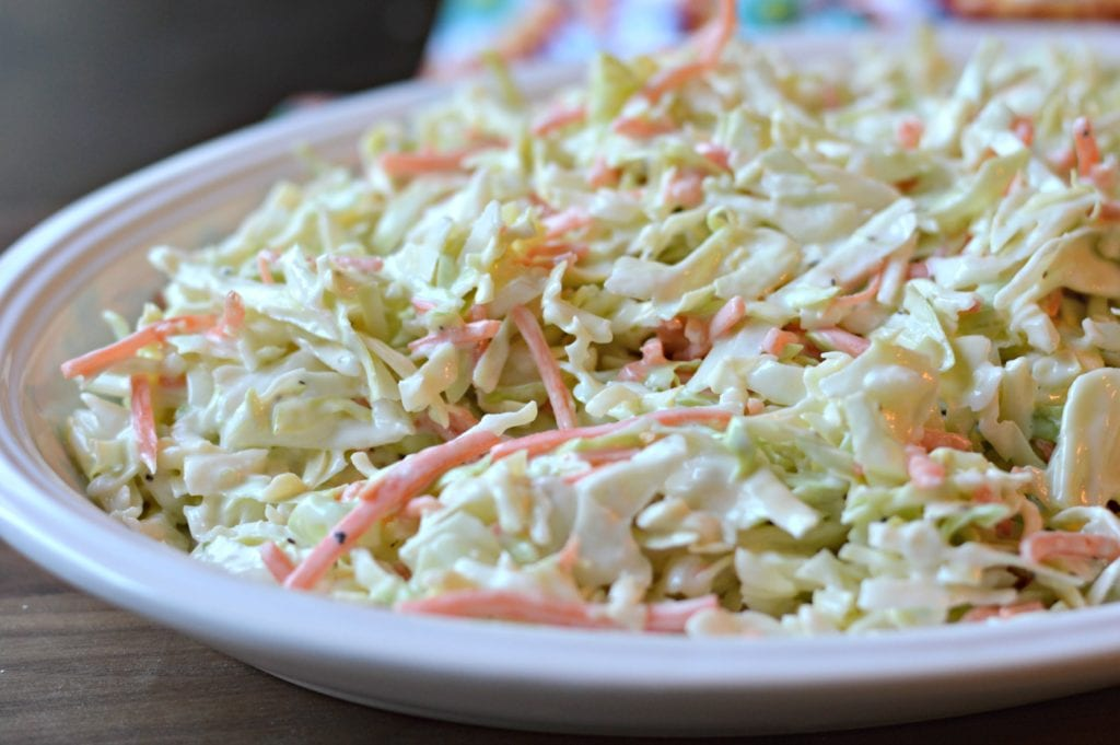 Coleslaw as a side dish