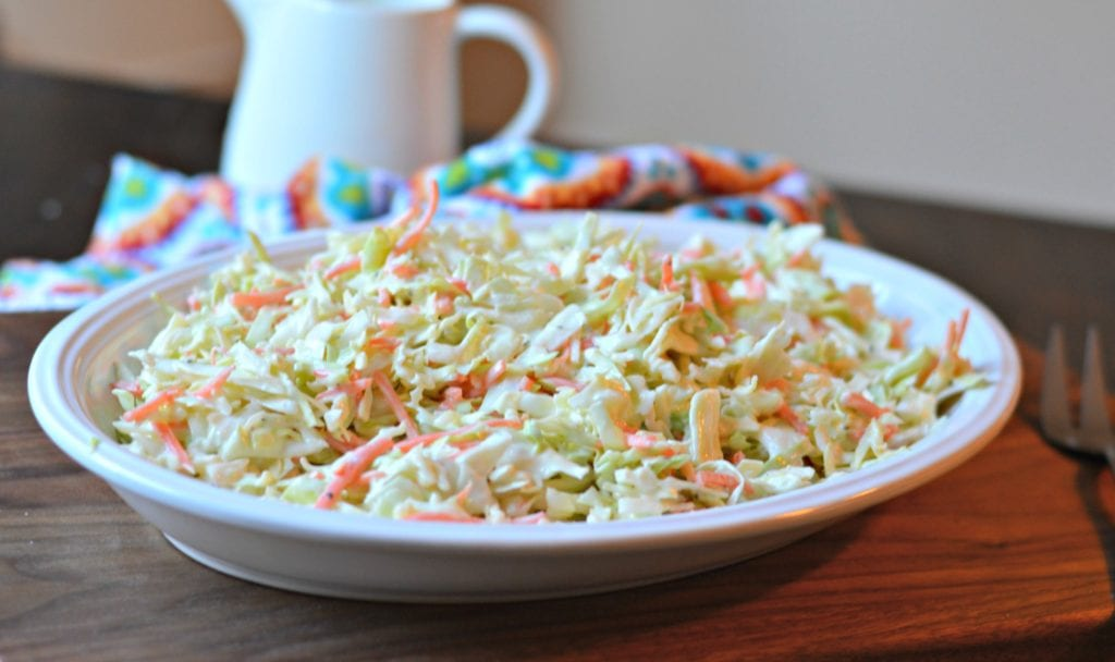 Coleslaw ready to serve