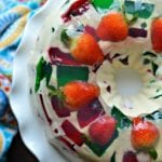 mosaic gelatin (gelatina de mosaico) on the side.