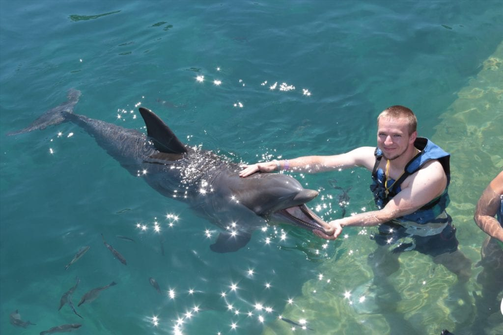 Daniel with Dolphin