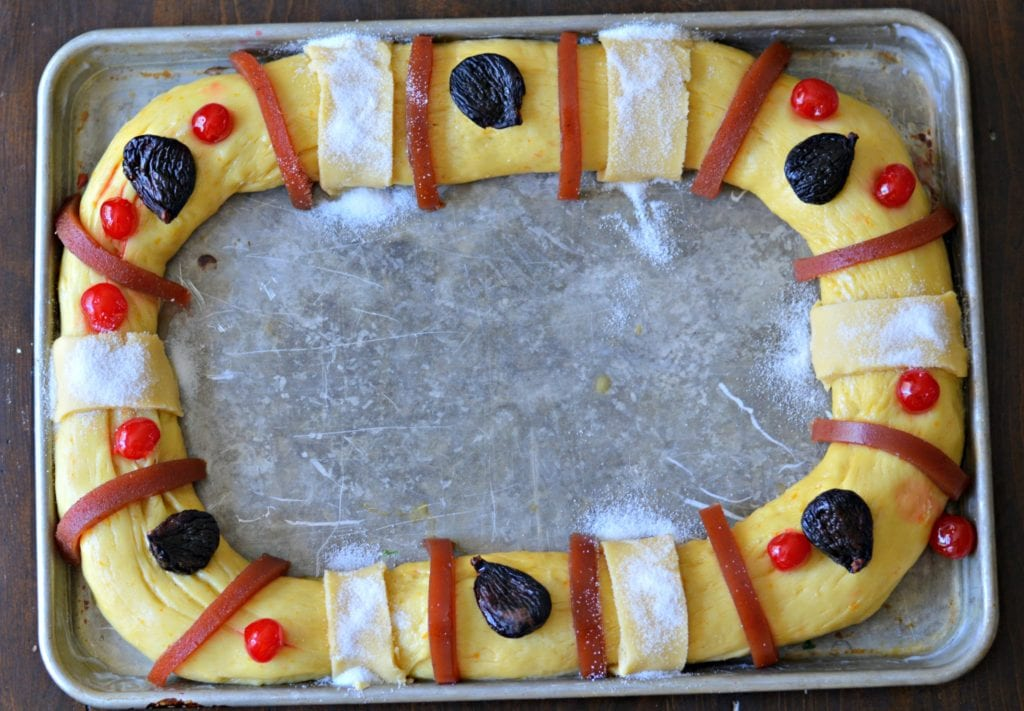 Rosca de Reyes ready to bake