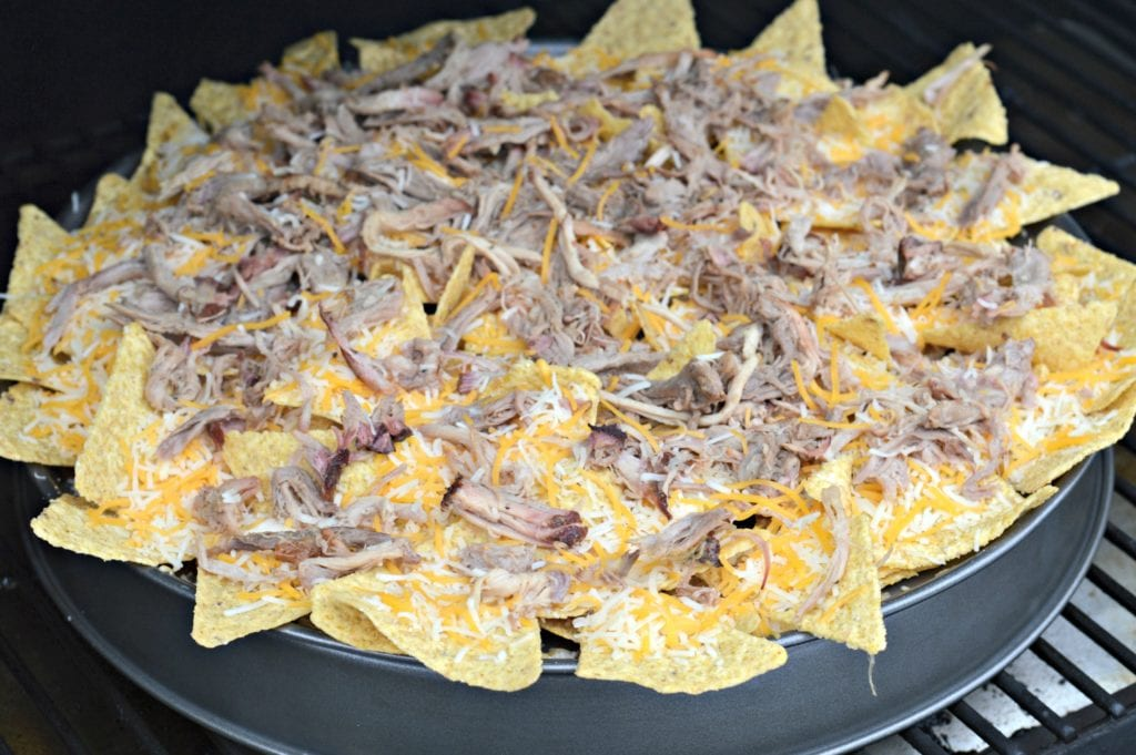 Smoked Nachos on the wood pellet smoker