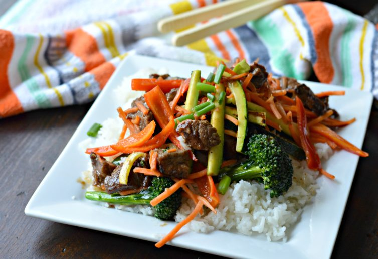 Stir fry with delicious veggies and flank steak