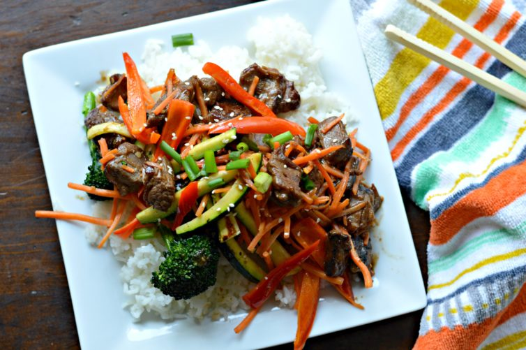 Stir fry with veggies delicious