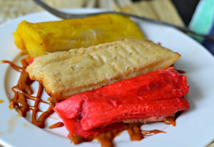 Sweet tamales plate