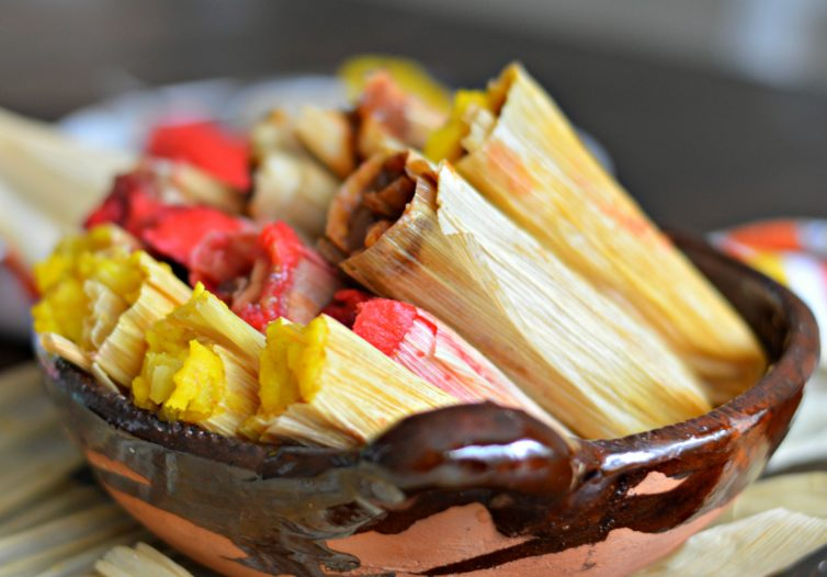 sweet tamales in a bowl
