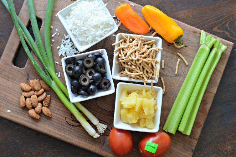 Hawaiian Haystacks ingredients